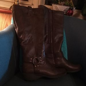 A2 faux leather boots